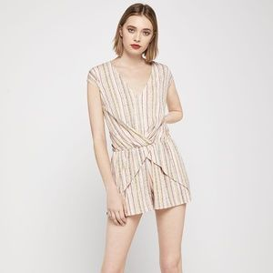 BCBGeneration Overlapping Pleats Romper